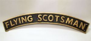 Flying Scotsman Loco Plate